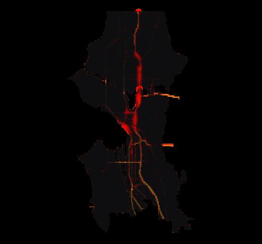 Seattle temperature map