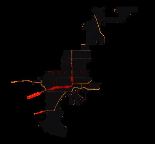 Tampa temperature map