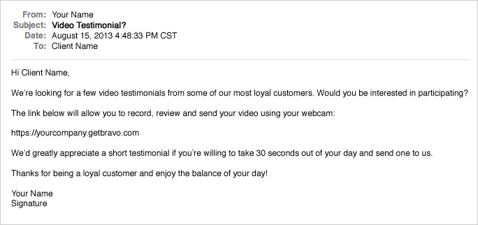 Getting video testimonials on your website