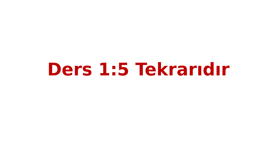 MAT237 LİNEER CEBİR - HAFTA 6 - GENEL TEKRAR