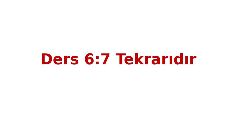 MAT237 LİNEER CEBİR - HAFTA 8 - GENEL TEKRAR