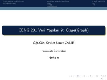 Pamukkale Üniversitesi Veri Yapıları 9. Hafta Dökümanı
