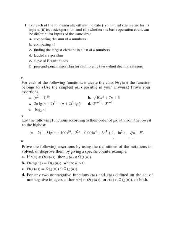 Algorithms homework