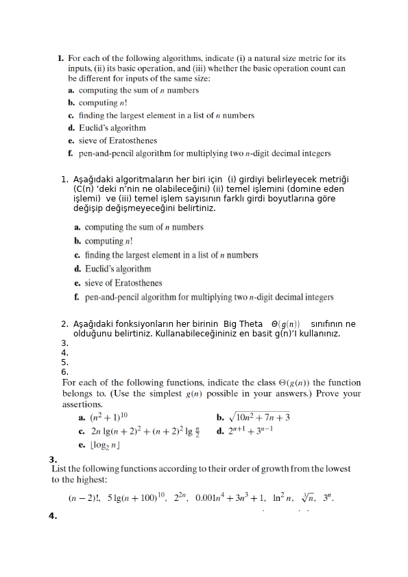 Algoritma Ödev