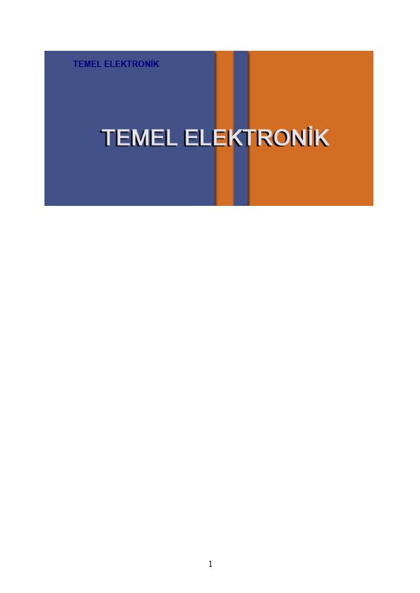 Temel Elektronik - 1