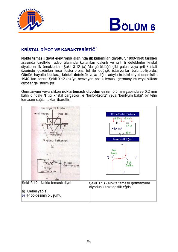 Temel Elektronik - 6 Mersin Üniversitesi 24 Sayfa