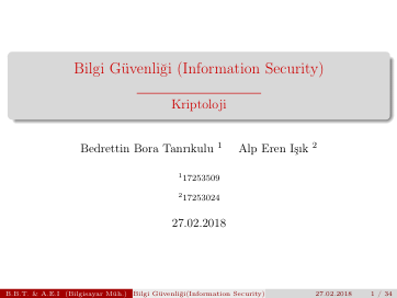 Pamukkale Üniversitesi - Bilgisayar Mühendisliği Semineri Sunumu - 2018