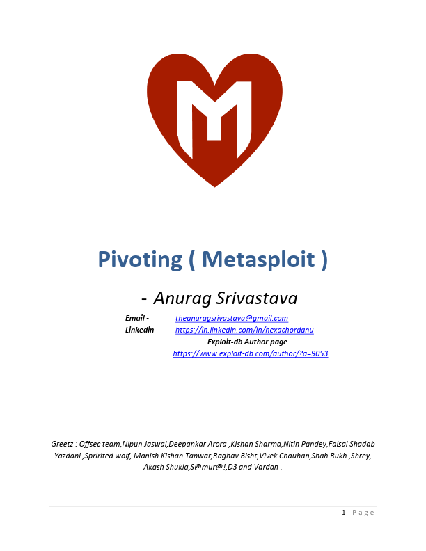 Metasploit Pivoting