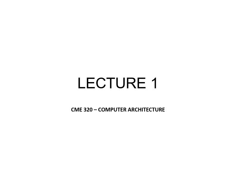 Bilgisayar Mimarisi - Ozan Gülbudak tarafından oluşturulmuştur.