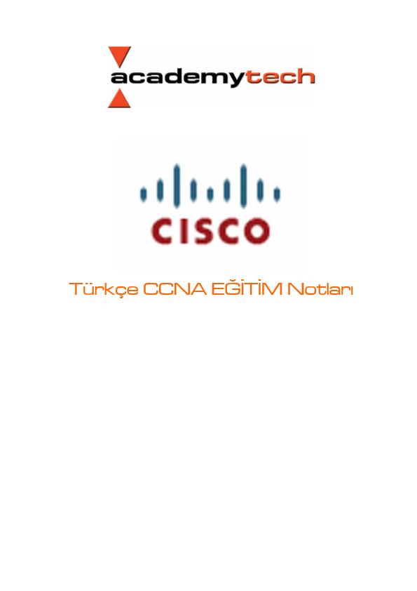 Türkçe CCNA EĞİTİM Notları - Cisco Networking Ders Notları