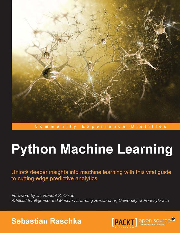Python Programlama Dili İle Makine Öğrenmesi