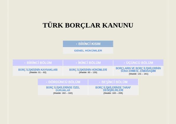 Türk Borçlar Kanunu Ders Notları