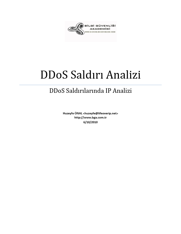 DDoS Saldırı Analizi - DDoS Forensics