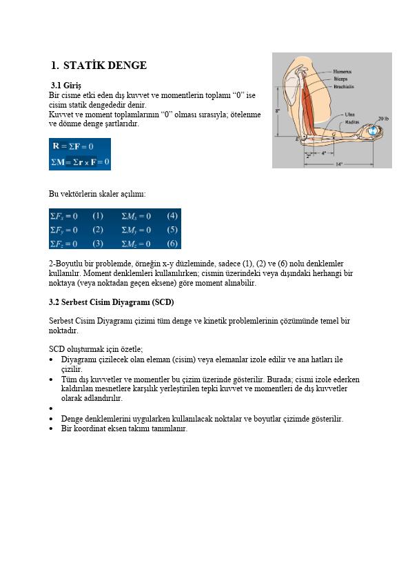 Statik Denge Ders Notları PDF