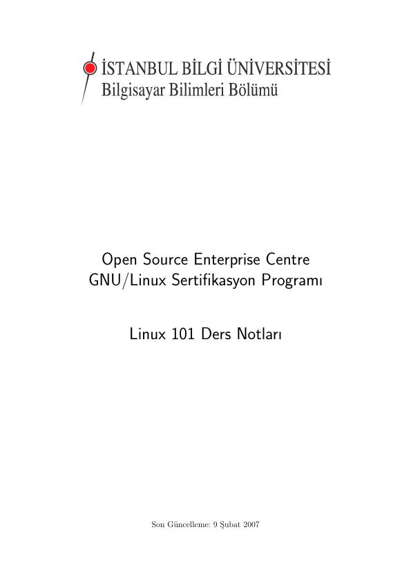 Linux genel dosya ve dizin yapısı gibi bir çok konu ele alınmış