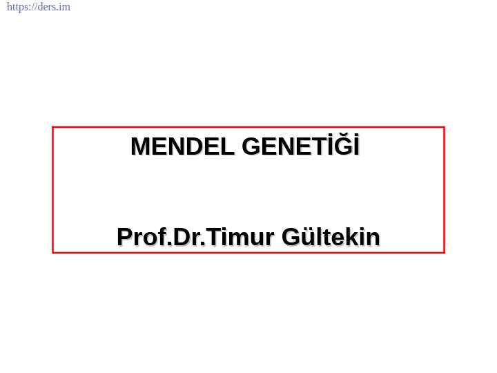 Genetik Ders Notları - 6