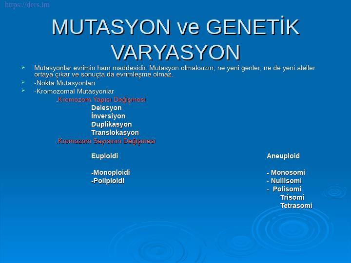 Genetik Ders Notları -12