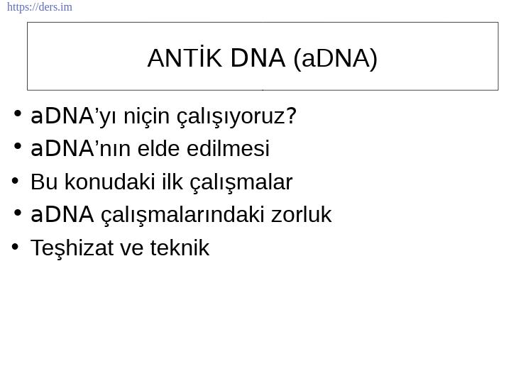 Genetik Ders Notları - 13