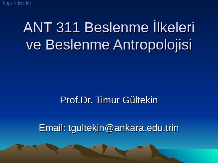 Beslenme Antropolojisi Ders Notları - 4