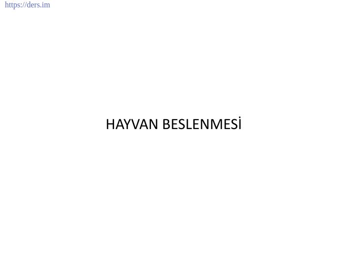 İNSAN BİYOLOJİSİ DERS NOTLARI - 2