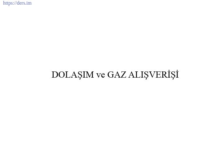 İNSAN BİYOLOJİSİ DERS NOTLARI - 3