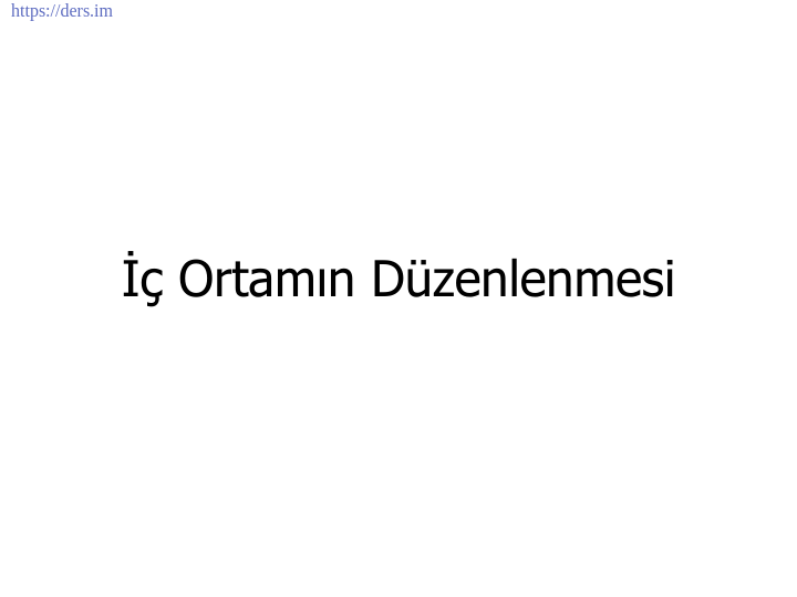 İNSAN BİYOLOJİSİ DERS NOTLARI - 5