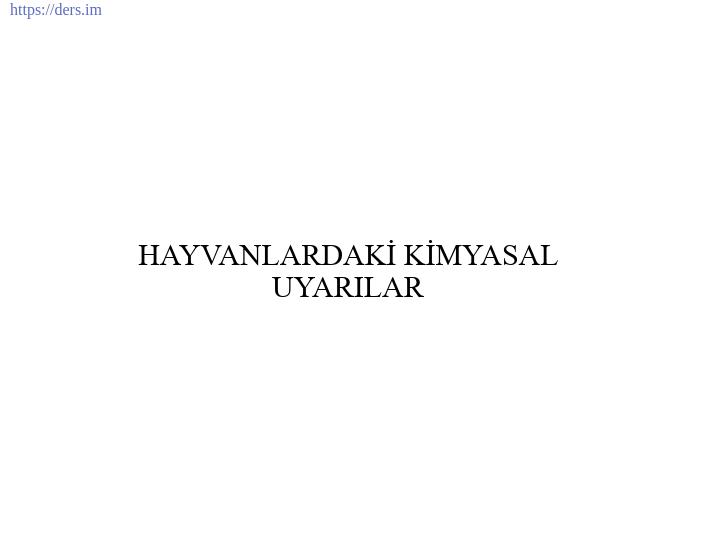 İNSAN BİYOLOJİSİ DERS NOTLARI - 6
