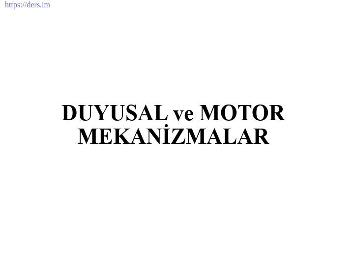 İNSAN BİYOLOJİSİ DERS NOTLARI - 10