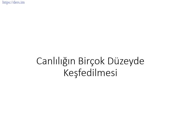GENEL BİYOLOJİ DERS NOTLARI  -  1