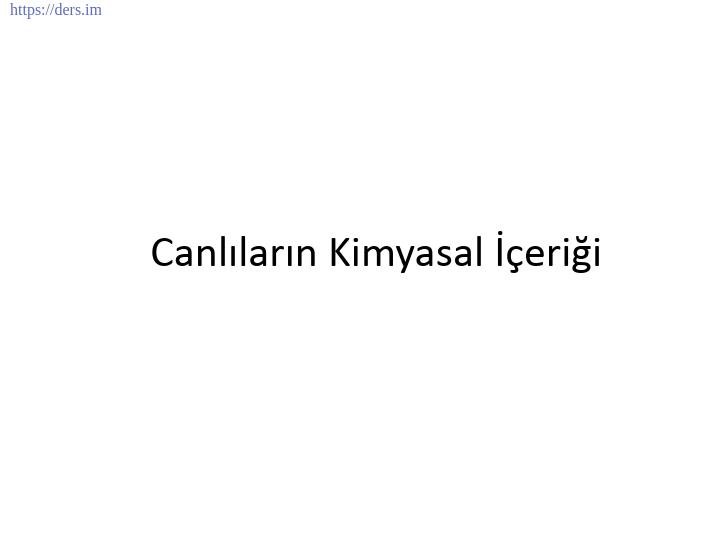 GENEL BİYOLOJİ DERS NOTLARI  -  2