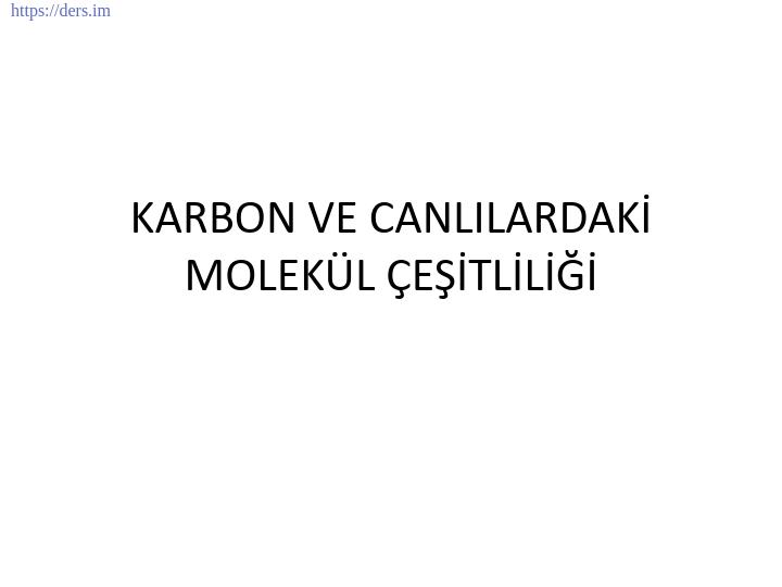 GENEL BİYOLOJİ DERS NOTLARI  -  4