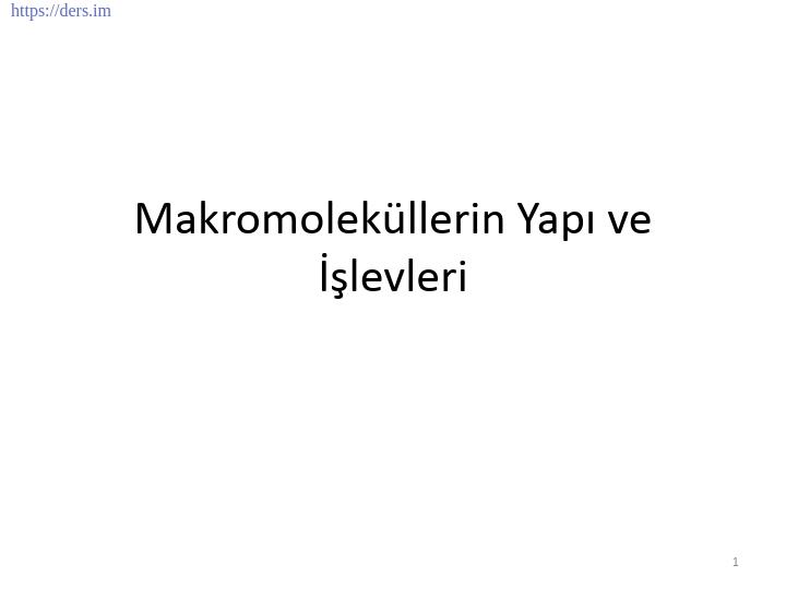 GENEL BİYOLOJİ DERS NOTLARI  -  5
