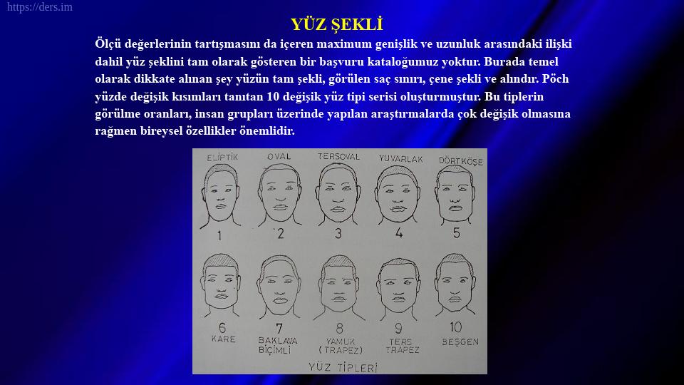 SOMATOLOJİ DERS NOTLARI - 9