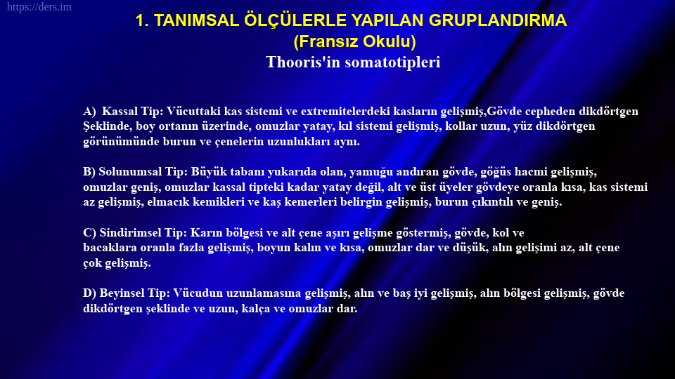 SOMATOLOJİ DERS NOTLARI - 11