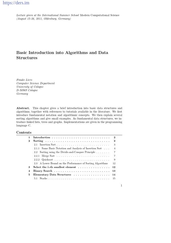 Algoritmalar ve Veri Yapılarına Giriş