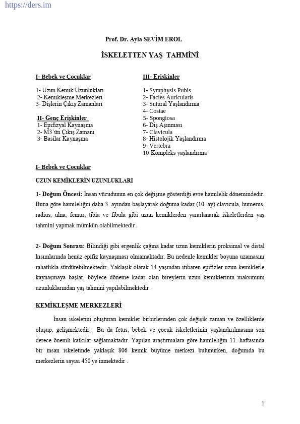 PALEOANTROPOLOJİ Yöntem ve Teknikler Ders Notları - 2