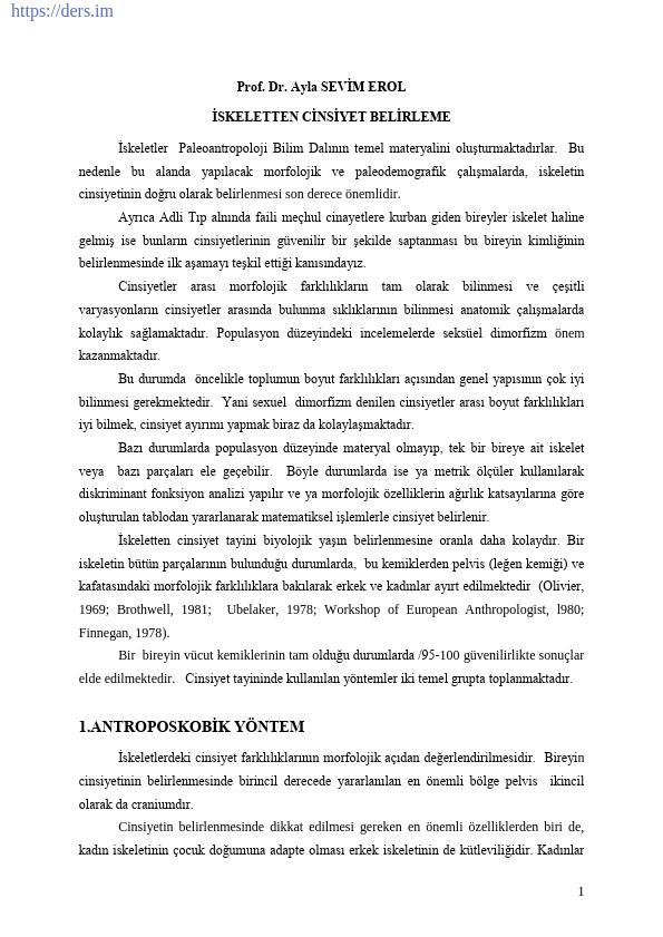 PALEOANTROPOLOJİ Yöntem ve Teknikler Ders Notları - 3