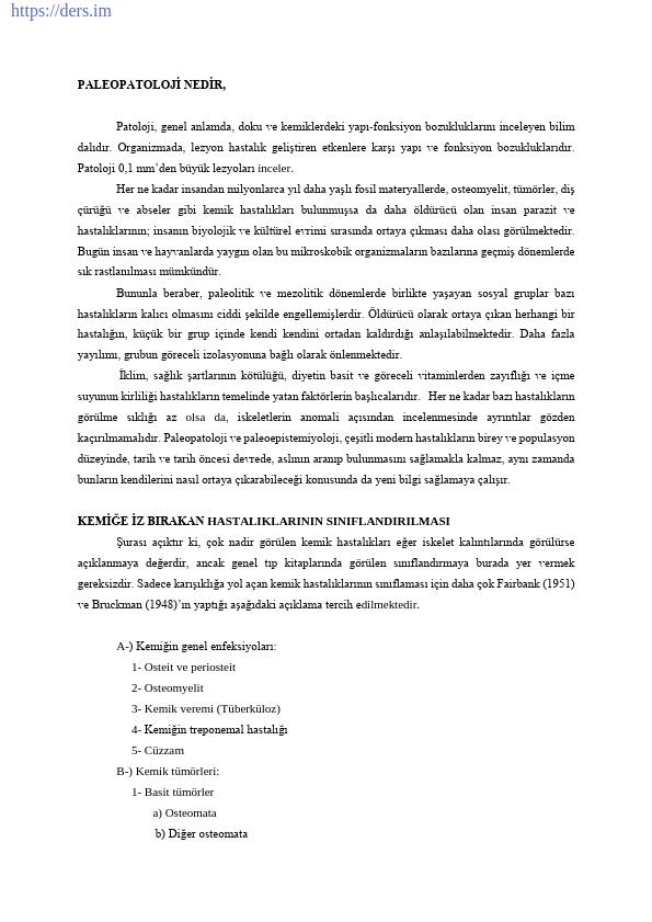 PALEOANTROPOLOJİ Yöntem ve Teknikler Ders Notları - 6