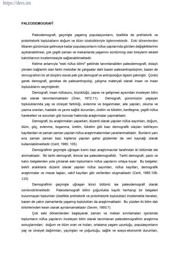 PALEOANTROPOLOJİ Yöntem ve Teknikler Ders Notları - 8