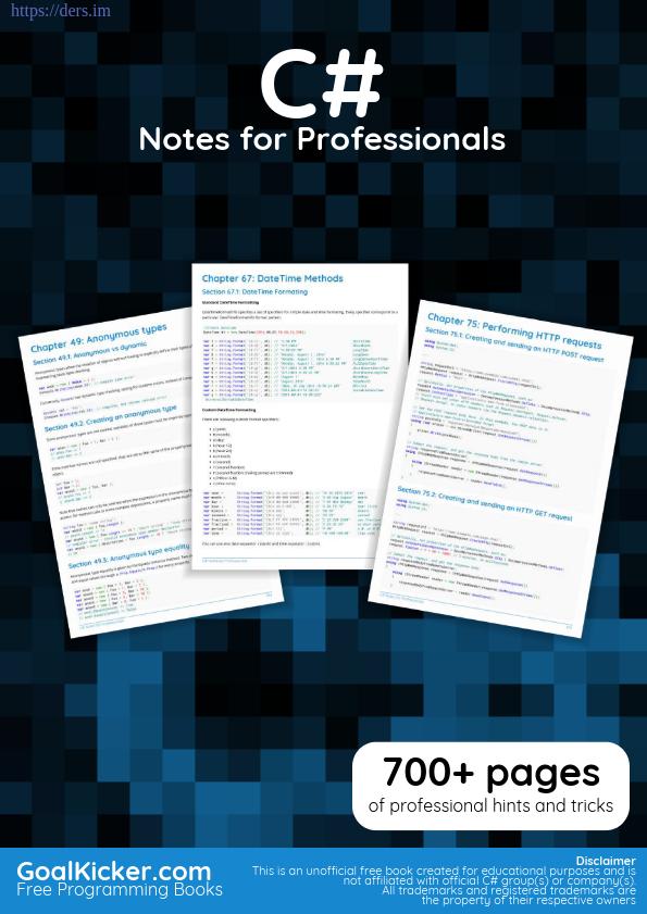 Profesyoneller İçin C# Programlama