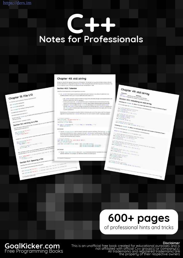 C++ Programlama Profesyoneller İçin