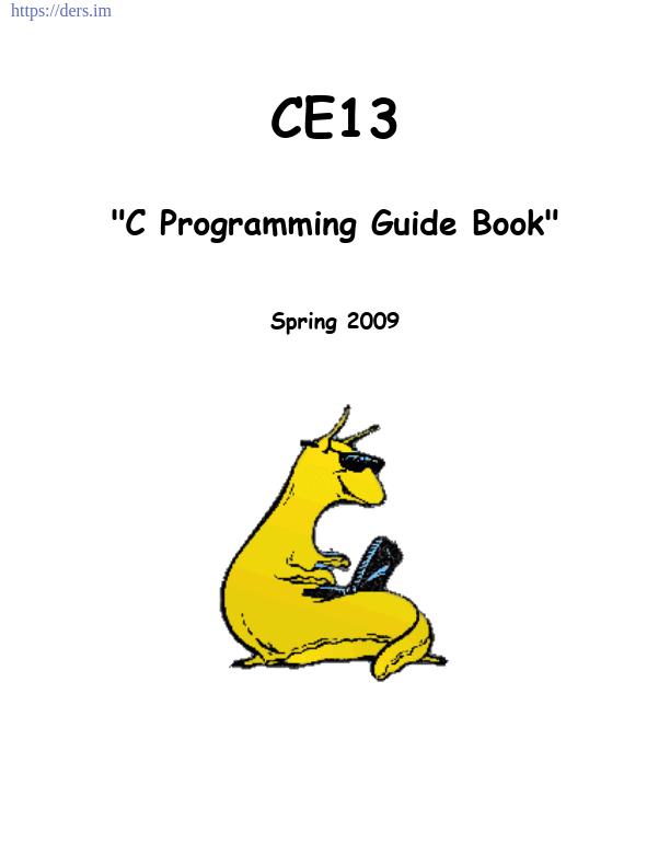 C Dili İle Programlama Klavuzu