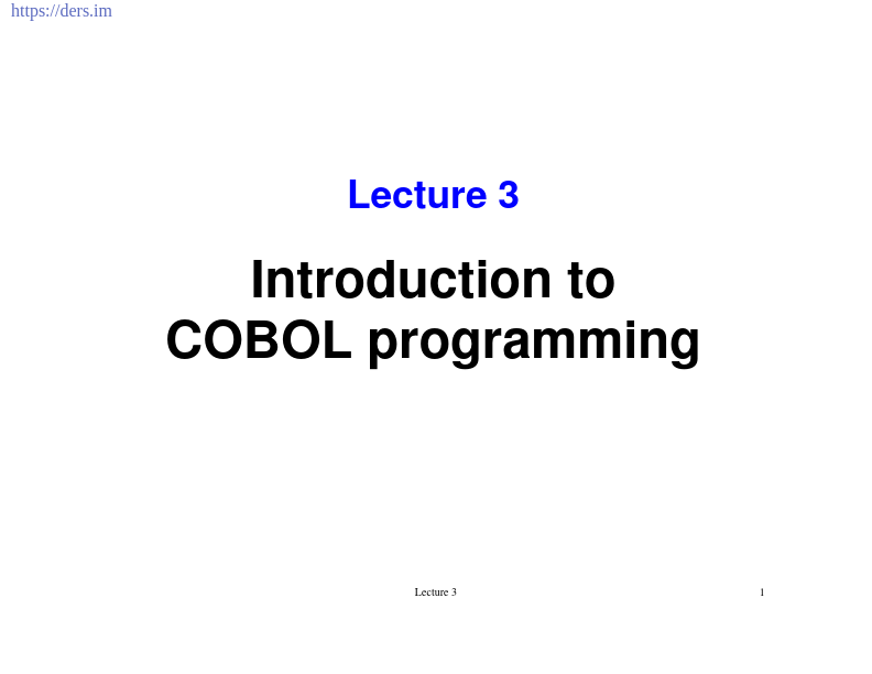 COBOL Programlamaya Giriş