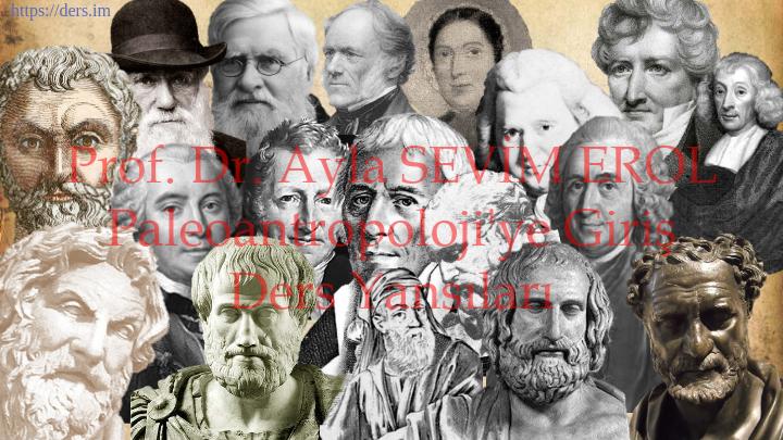 Paleoantropoloji'ye Giriş Ders Notları  -  1