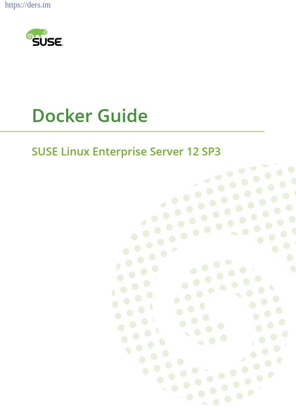 Docker Rehberi Suse Linux