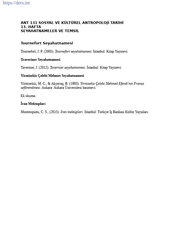 Sosyal ve Kültürel Antropoloji Tarihi Ders Notları - 11