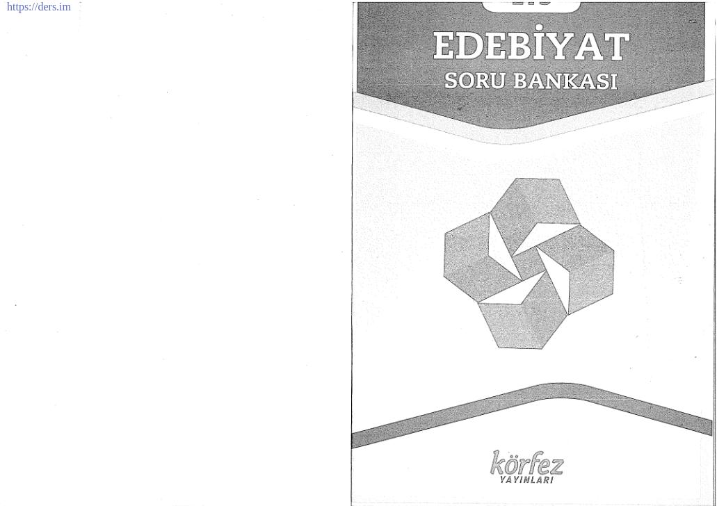 LYS Edebiyat Körfez Ders Notu PDF