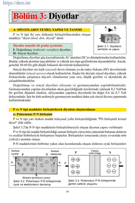 Diyotlar Konu Anlatımı PDF