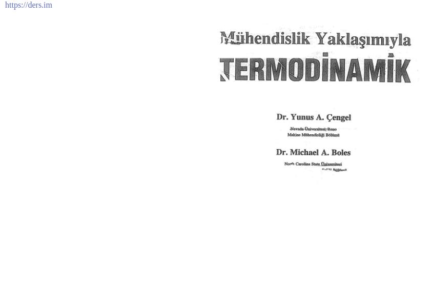 Mühendislik Yaklaşımıyla Termodinamik Ders Kitabı Türkçe PDF