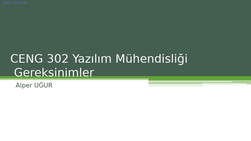 Yazılım mühendisliği Pamukkale Üniversitesi 4. Ders - Alper Uğur